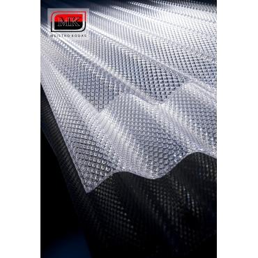 DIAMONDS monolitinis polikarbonatas, skaidrus (pagamintas ES)